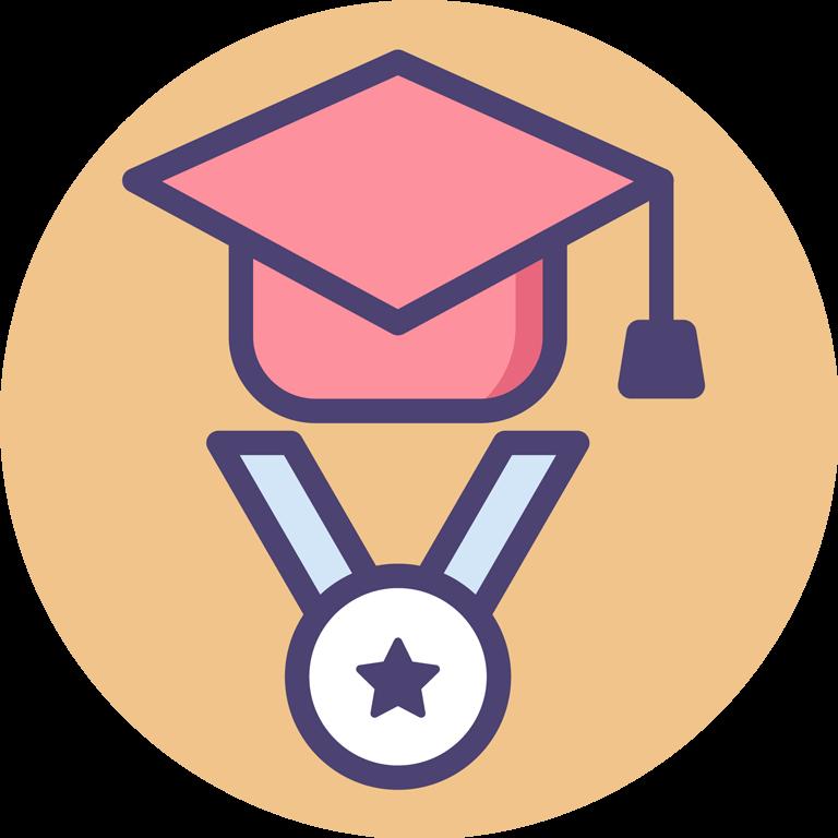 graduate cap and award